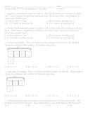 Go Math! Grade 4 Chapter 2 Test Review