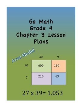 Go Math Grade 4 Chapter 3 Lessons