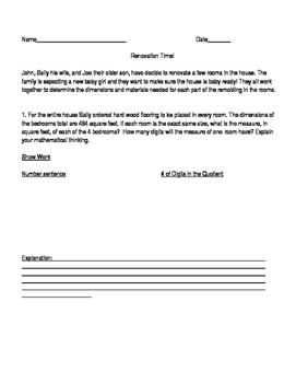 Go! Math Grade 4 Chapter 4 Practice Performance Task