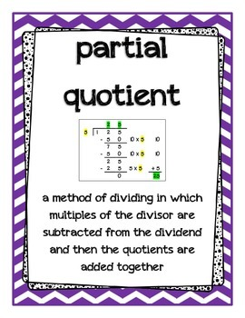 Go Math Grade 4 Chapter 4 Vocabulary Posters