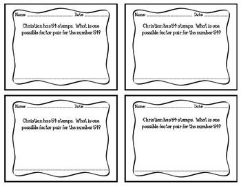 Go Math Grade 4 Chapter 5 Exit Slips
