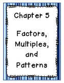 Go Math Grade 4 Chapter 5 Vocabulary Posters