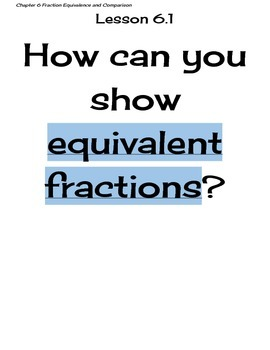 Go Math Grade 4 Chapter 6 Essential Questions and I Can Statements