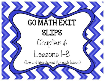 Go Math Grade 4 Chapter 6 Exit Slips