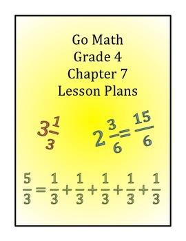 Go Math Grade 4 Chapter 7 Lessons By Catania Teachers Pay Teachers