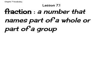 Go Math Grade 4 Chapter 7 Vocabulary Cards