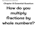 Go Math Grade 4 Chapter 8 Essential Questions and I Can Statements