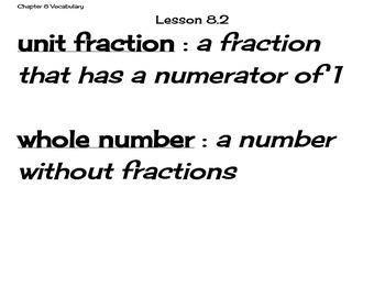 Go Math Grade 4 Chapter 8 Vocabulary Cards