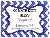 Go Math Grade 4 Chapter 9 Exit Slips