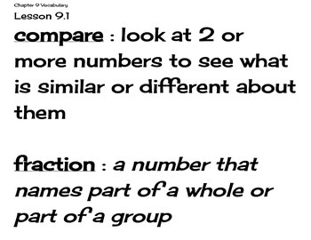 Go Math Grade 4 Chapter 9 Vocabulary Cards
