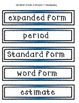 Go Math Grade 4 Chapters 1-13 Vocabulary Words