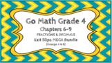 Go Math Grade 4 Chapters 6-9 Digital Exit Slips MEGA Bundl
