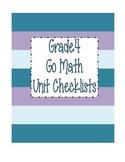 Go Math Grade 4 Checklists