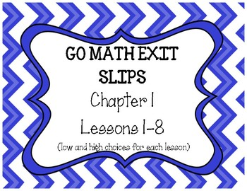 Go Math Grade 4 Exit Slips, Chapters 1-5