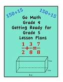 Go Math Grade 4 Getting Ready for Grade 5 Lessons