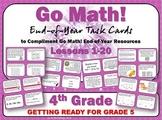 Go Math Grade 4:  Get Ready for Grade 5 Task Cards