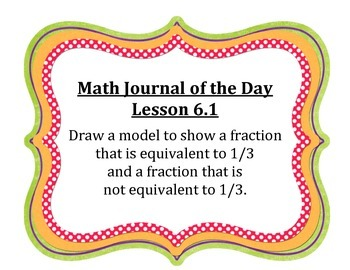 Go Math Grade 4 Journal of the Day Chapter 6 Posters