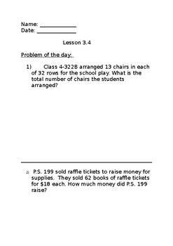 Go Math Grade 4 Lesson 3.4 Problem of the Day