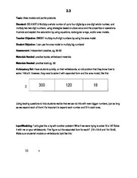 Go Math! Grade 4 Lesson Plan 3.3