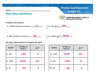 Go Math Grade 5 Ch 1 SmartBoard Slides 2015-2016