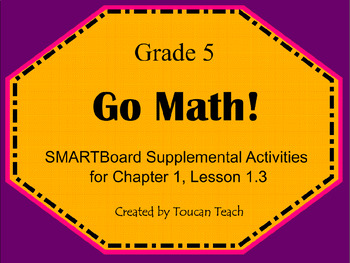 Go Math Gr. 5 Chap. 1 Lesson 1.3 (Properties of Operation) SMARTBoard Activities