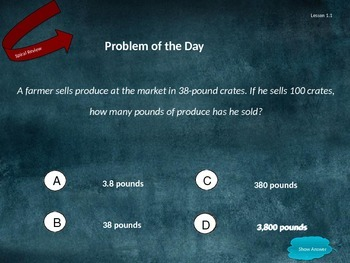Go Math Grade 5 Chapter 1 Problem of the Day Powerpoint