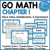 Go Math 5th Grade Chapter 1 Resource Packet - Place Value, Multiplication