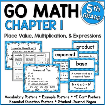 Go Math Chapter 1 5th Grade Resource Packet - Place Value,