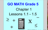 Go Math Grade 5 Chapter 1 Smart Notebook Lessons 1.1-1.5
