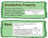 Go Math- Grade 5: Chapter 1 Vocabulary Word Wall Cards
