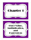 Go Math! Grade 5 Chapter 1 Vocabulary Words