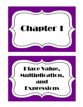 Go Math! Grade 5 Chapter 1 Vocabulary Words