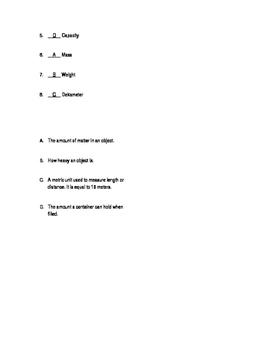 Go Math Grade 5 Chapter 10 Vocabulary Quiz