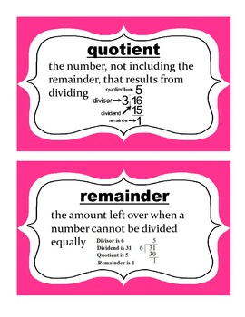 Go  Math! Grade 5 Chapter 2 Vocabulary Words