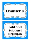 Go Math! Grade 5 Chapter 3 Vocabulary Words