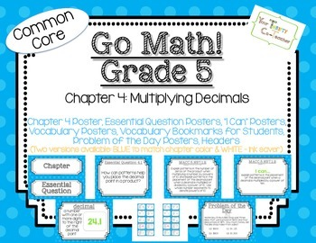 Go Math! Grade 5 Chapter 4 Essential Question, Vocabulary, I Can, Problem Day