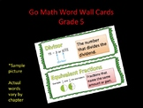 Go Math: Grade 5- Chapter 4 Vocabulary Word Wall Cards