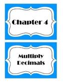 Go Math! Grade 5 Chapter 4 Vocabulary Words