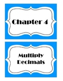 Go Math! Grade 5 Chapter 4 Vocabulary Words