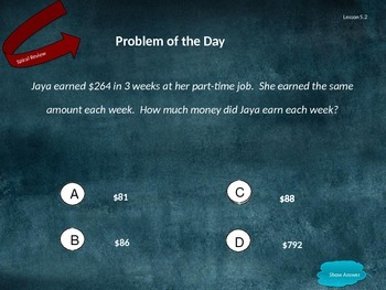 Go Math Grade 5 Chapter 5 Problem of the Day Powerpoint