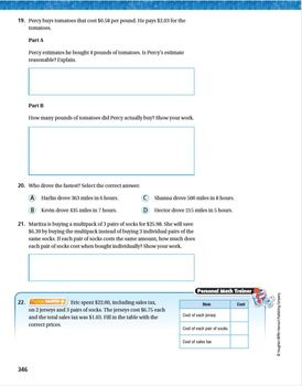 Go Math Grade 5 Chapter 5 Review/Test with Answers