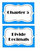 Go Math! Grade 5 Chapter 5 Vocabulary Words