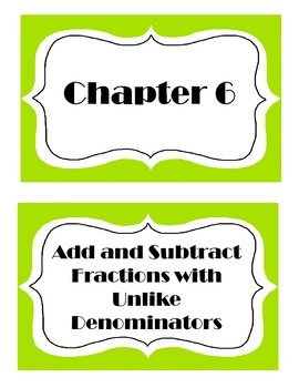 Go Math! Grade 5 Chapter 6 Vocabulary Words