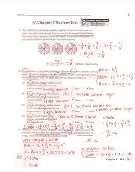 Go Math Grade 5 Chapter 7 Review/Test with Answers