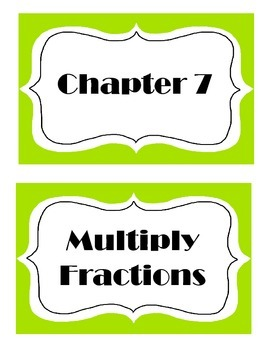 Go Math! Grade 5 Chapter 7 Vocabulary Words