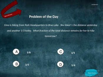 Go Math Grade 5 Chapter 8 Problem of the Day Powerpoint