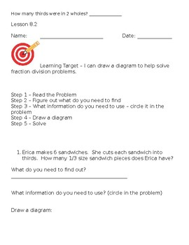 Go Math 5th Grade, Chapter 8 Modified Resource Pack