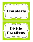 Go Math! Grade 5 Chapter 8 Vocabulary Words