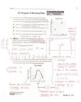 Go Math Grade 5 Chapter 9 Review/Test with Answers