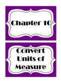 Go Math! Grade 5 Chapter 10 Vocabulary Words